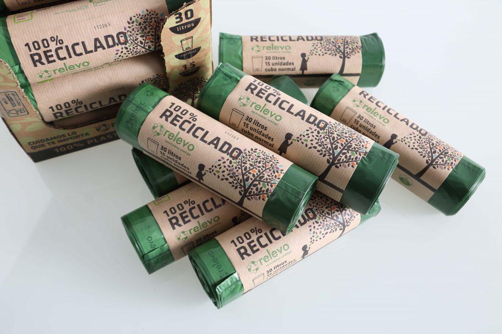 bolsas ecológicas basura 100% plástico reciclado